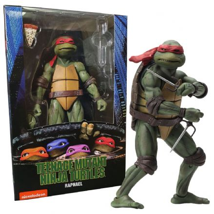"NECA Teenage Mutant Ninja Turtles 1990 Movie 7"" Scale Action Figure - Raphael"
